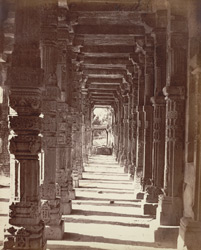 The Kootub [Delhi]. The northern corridor of the inner enclosure.